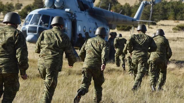 Pričuvnici vojske uvježbavaju gašenje velikih šumskih požara