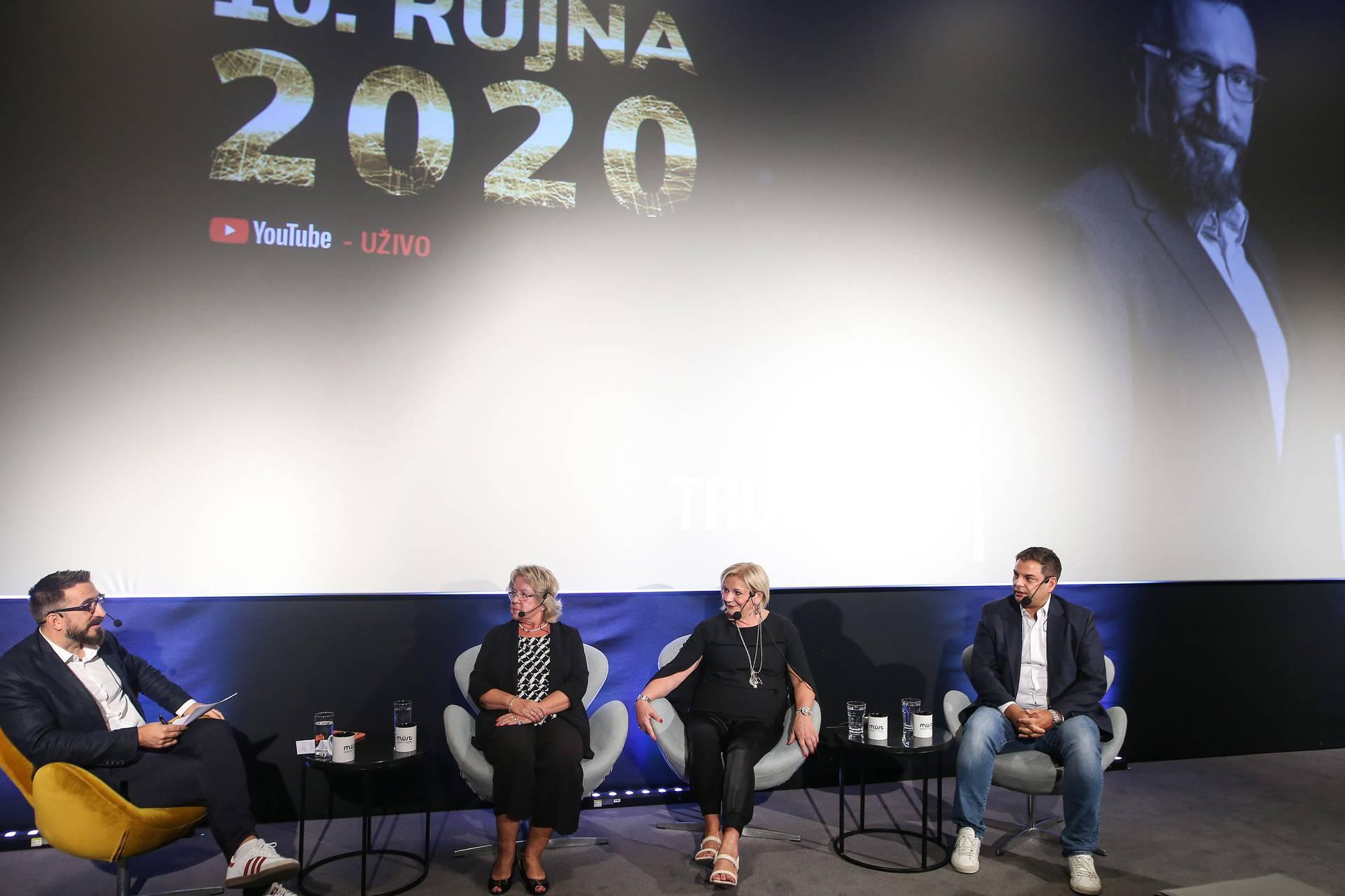 Zagre: Panel na konferenciji Poduzetnički mindset koji je moderirao Boris Trupčević