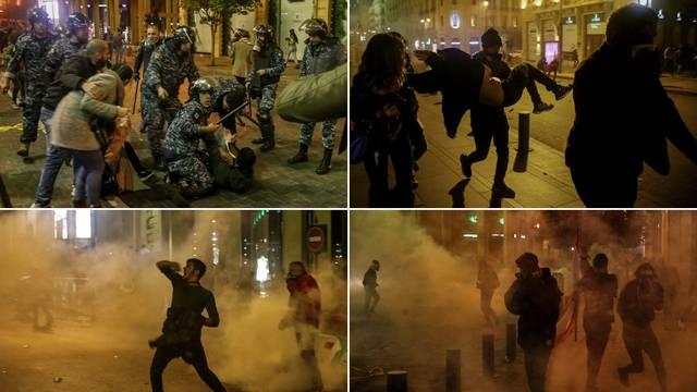 Deseci ranjenih u Bejrutu: Na prosvjednike bacali suzavac