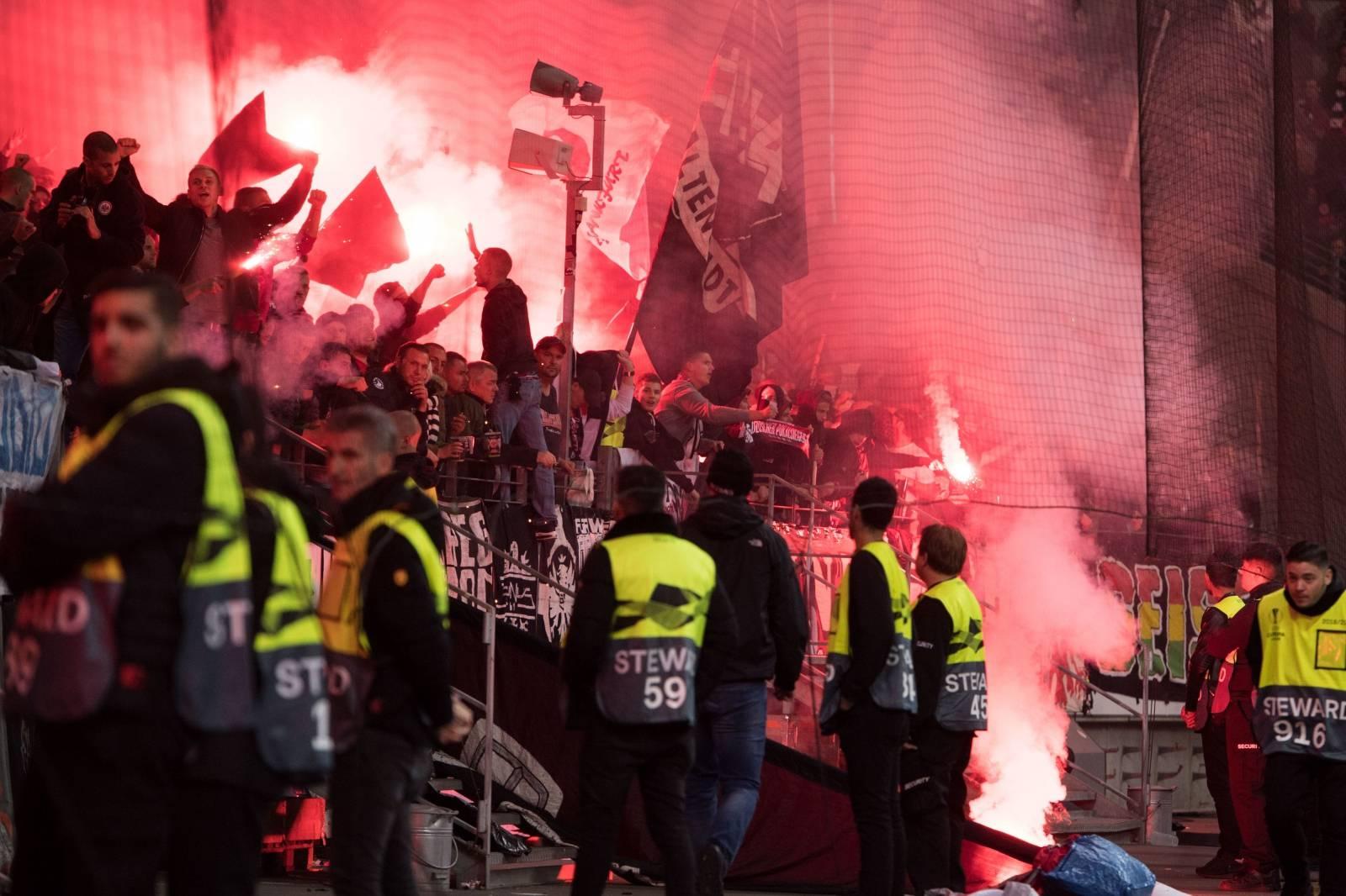 Soccer Europa League / Eintracht Frankfurt - Lazio Rome 4: 1.