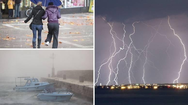 Pravi ponedjeljak od vremena: Kiša, vjetar, na jugu grmljavina