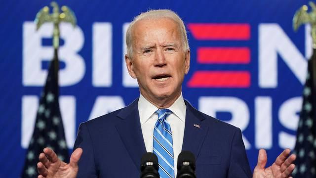 Democratic U.S. presidential nominee Biden speaks about 2020 the presidential election in Wilmington, Delaware