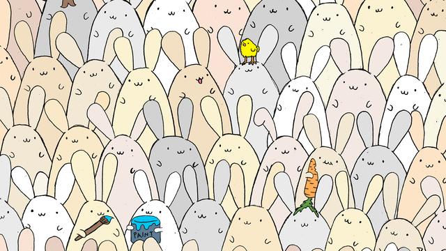 Koliko ste brzi: U šumi zečeva, možete li uočiti gdje je jaje?