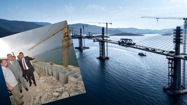 Sanader je radove na Pelješkom mostu otvorio 2005. Kinezi će  ga u srijedu konačno spojiti