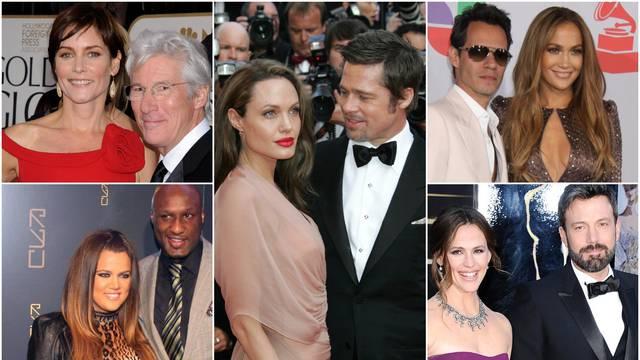 Najdulji razvodi slavnih: Brad i Angelina prvi su na ljestvici