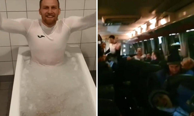 Ovako slavi Hrvatska! Ludnica u busu, 'vrući' Mandić u ledu