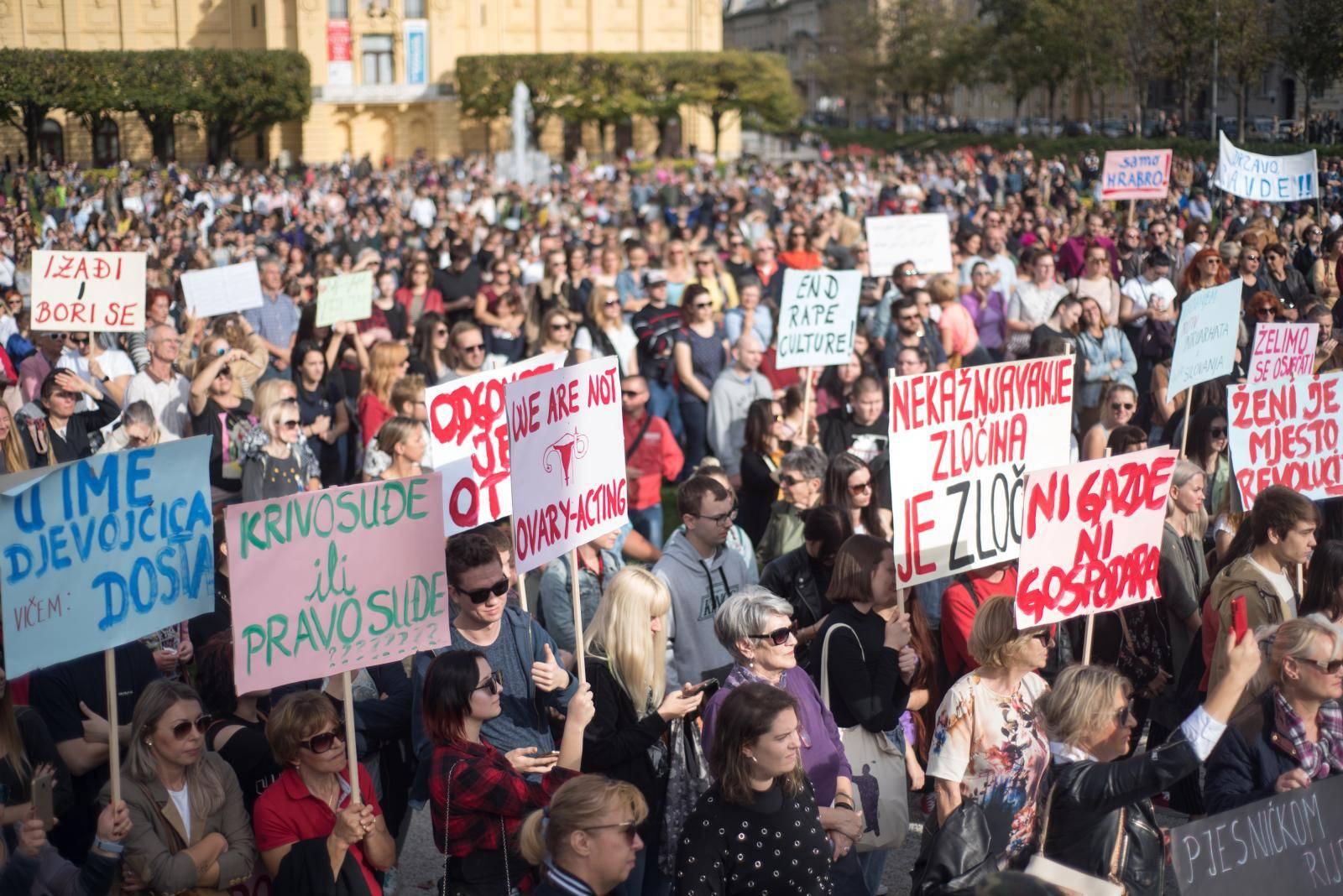 "Zagreb: Na Trgu kralja Tomislava održan prosvjed ""Pravda za djevojčice"""