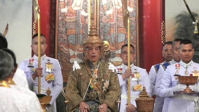 Thailand's King Maha Vajiralongkorn is crowned during his coronation in Bangkok