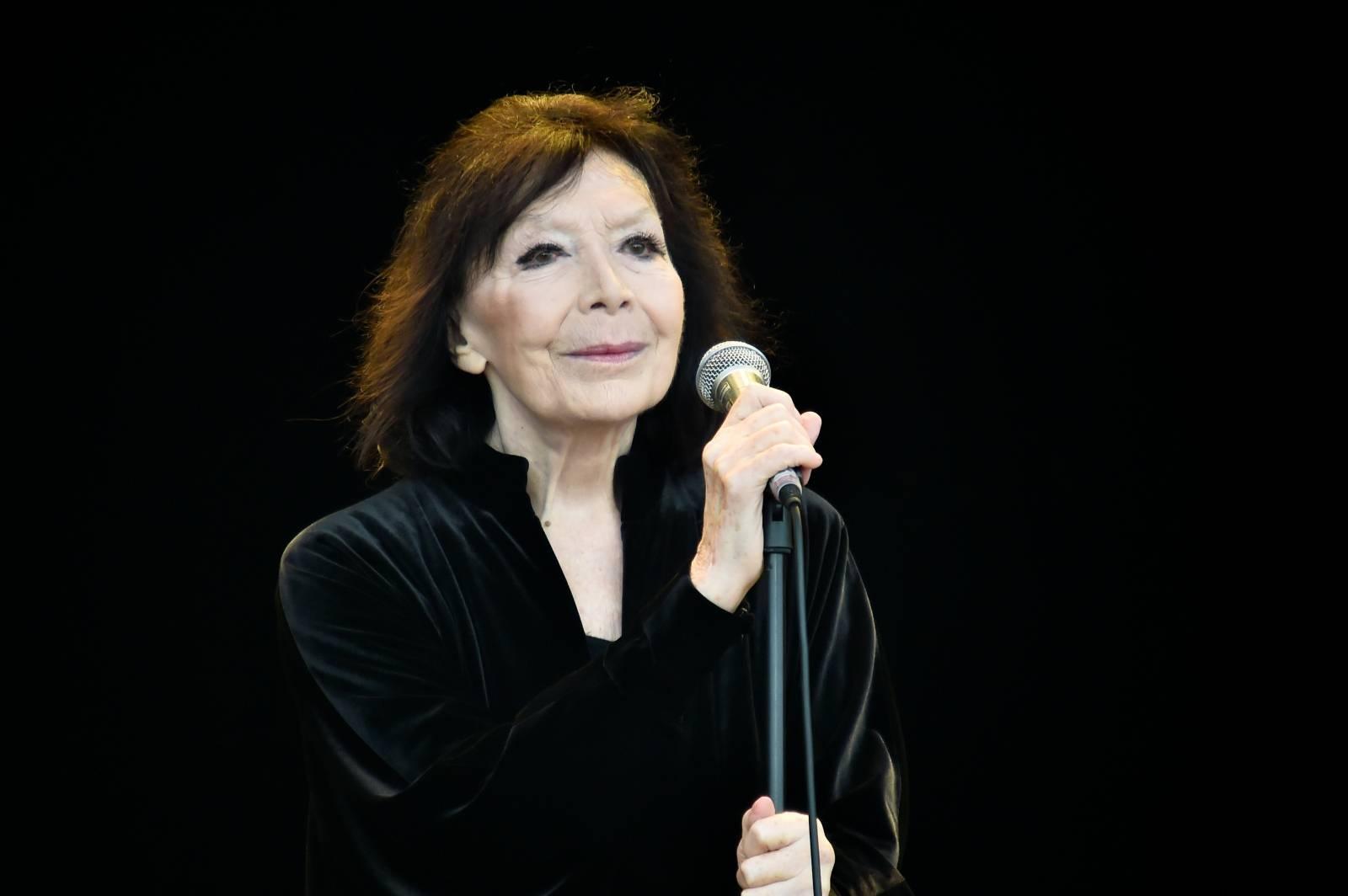 Juliette Gréco en concert lors de la Fête de l'Humanité 2015 à Paris