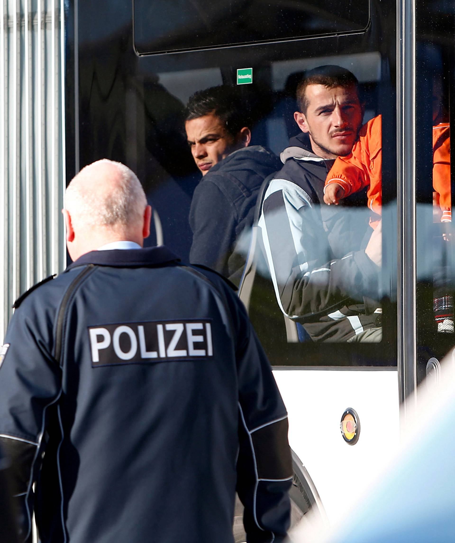 Migrants from Albania and Kosovo are being deported from Munich international airport Germany