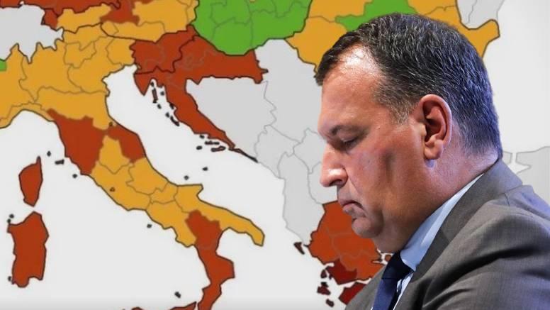 Nova korona karta: Hrvatska je cijela crvena, evo što to znači