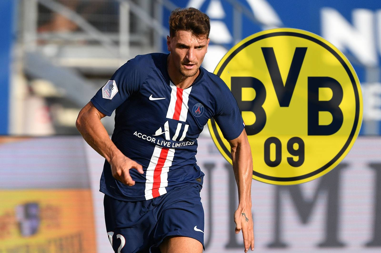 Thomas MEUNIER (PSG) changes to Borussia Dortmund.