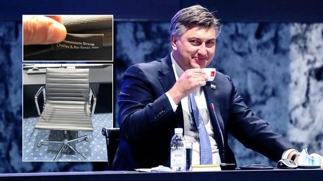 Vlada i stožer u NSK sjede na stolicama koje u trgovini vrijede oko tri tisuće eura. Po komadu