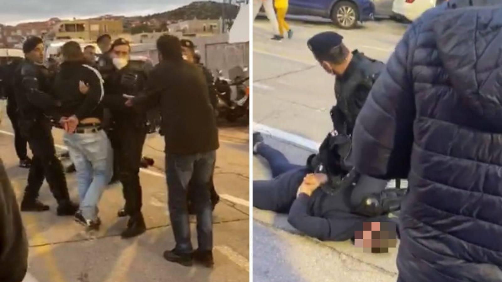 VIDEO Frka u Šibeniku, policija privela nekolicinu nakon meča