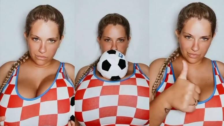 Vatrena podrška za utakmicu protiv Španjolaca: Nina Phoenix ulovila loptu bujnim grudima