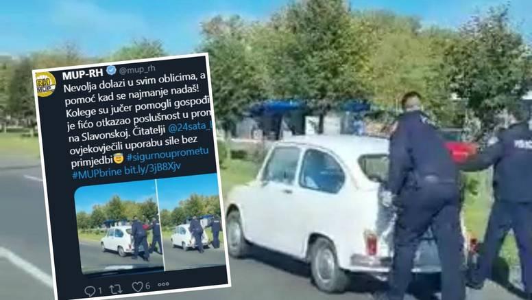 MUP o policajcima koji su gurali Fiću: Uporaba sile bez primjedbi