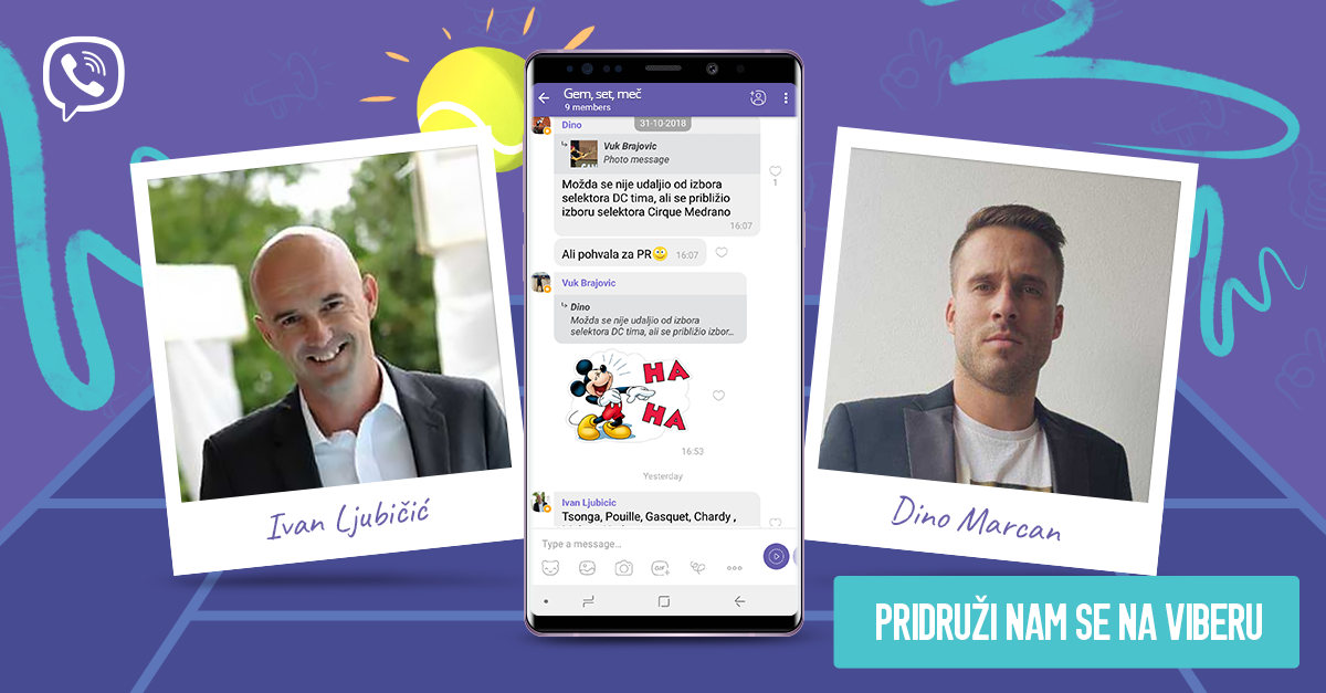 Pratite Davis Cup 2018 uz Viber s Ljubičićem i Marcanom