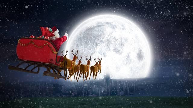 Pogledajte gdje Djed Božićnjak trenutno leti i dostavlja darove