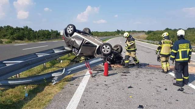 U nesreći na Istarskom Ipsilonu dvije osobe su lakše ozlijeđene