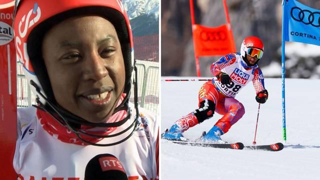 VIDEO Pogledajte 41-godišnju Haićanku kako skija na SP-u u Cortini: Uh, ostvarila sam san