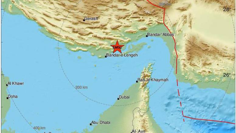 Potres magnitude 5.6 pogodio Iran, najmanje 40 ozlijeđenih