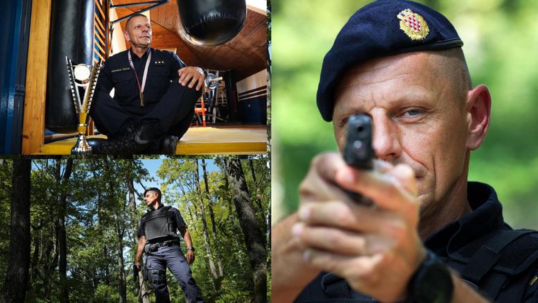 Krunoslav (45) je najspremniji policajac veteran: 'Svaki dan treniram barem  sat vremena'