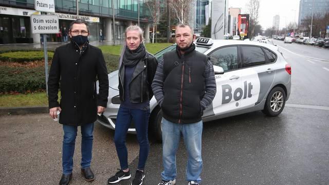 Zagreb: Novoosnovani Nezavisni sindikat vozača taksija održao prosvjed upozorenja