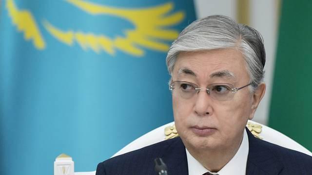 Kazakh President Tokayev attends a CSTO meeting in Bishkek