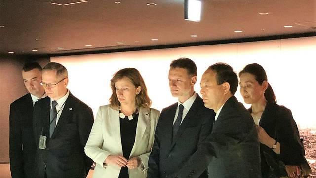 Jandroković u Hirošimi položio vijence za žrtve bombardiranja