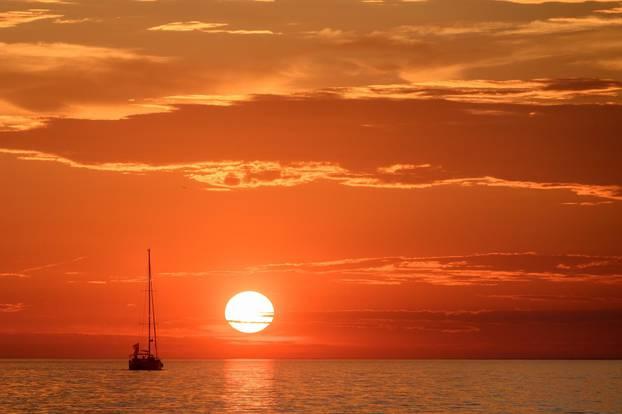 Zalazak sunca u Zadru