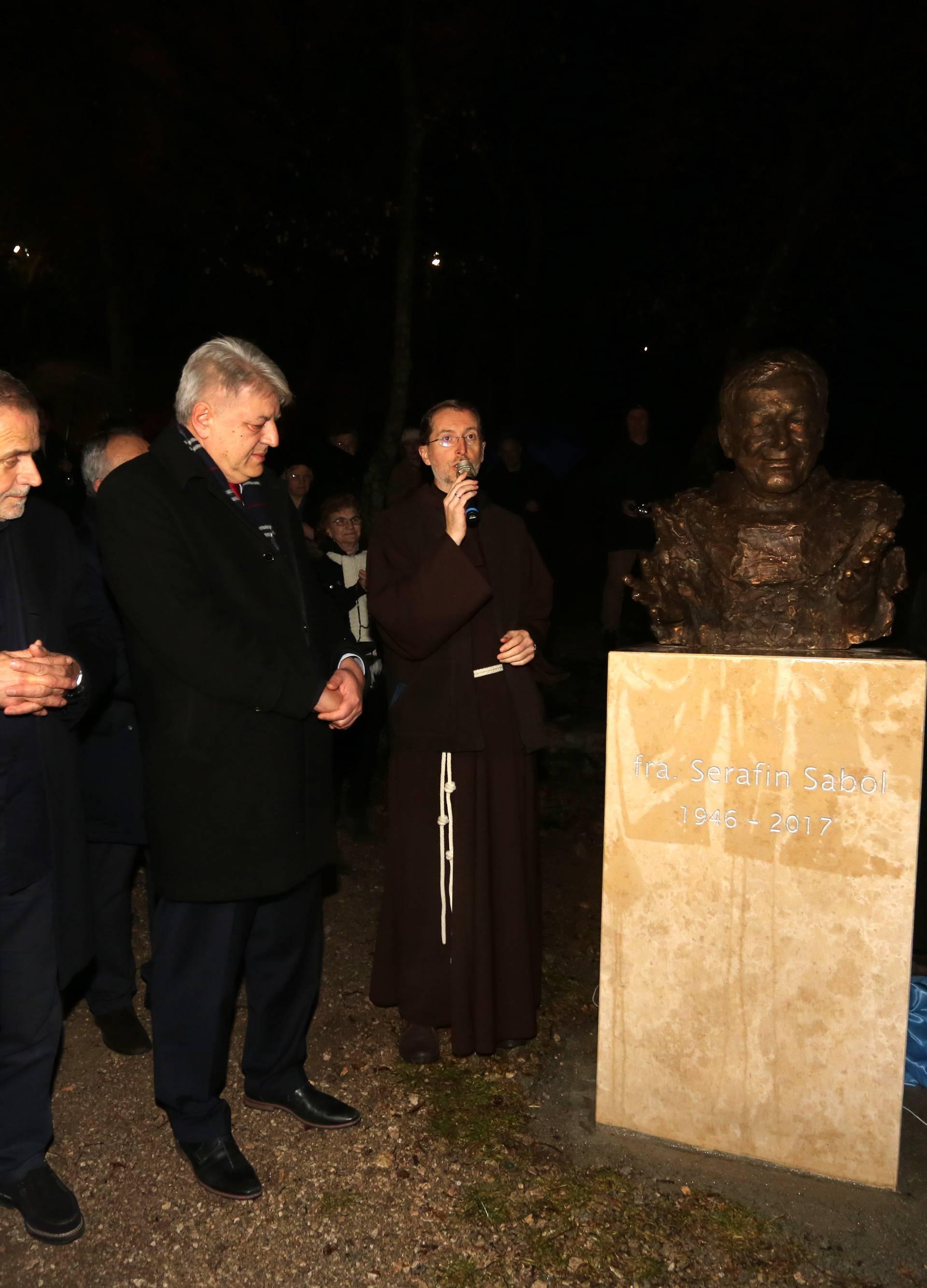 Rijeka: Otkrivanje biste fra Serafinu Sabolu u perivoju Trsatskog svetišta