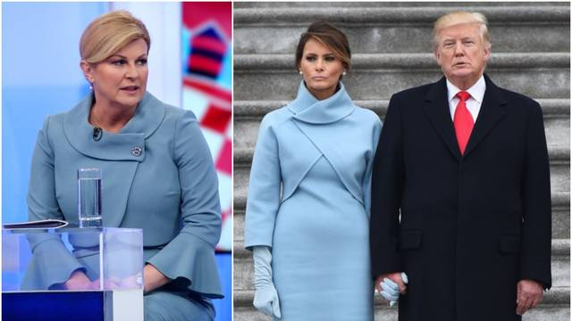 Kolinda se na sučeljavanju opet odjenula poput Melanije Trump