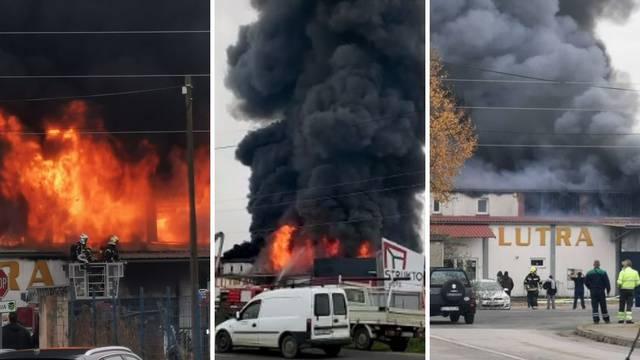 VIDEO U Sesvetama se zapalilo skladište: 'Čuli smo eksploziju'. Vatrogasac je rasjekao ruku