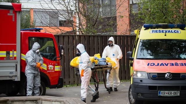 Infected nursing home residents evacuated in Skofja Loka, Slovenia - 19 Oct 2020