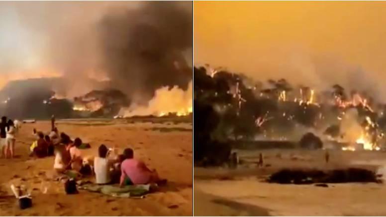 Zarobljeni na plaži: Tisuće čeka spas od vatre, nestaje im hrane