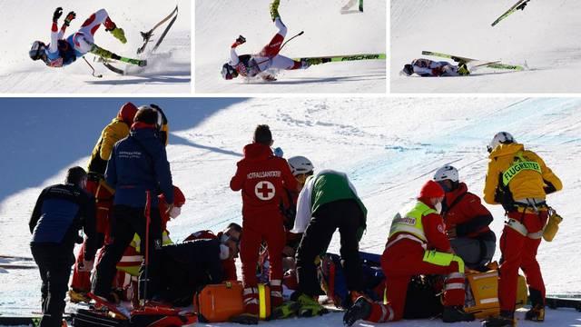 Užas u Kitzbühelu: Razbio se pred ciljem jureći više od 140 km/h i ostao nepomično ležati