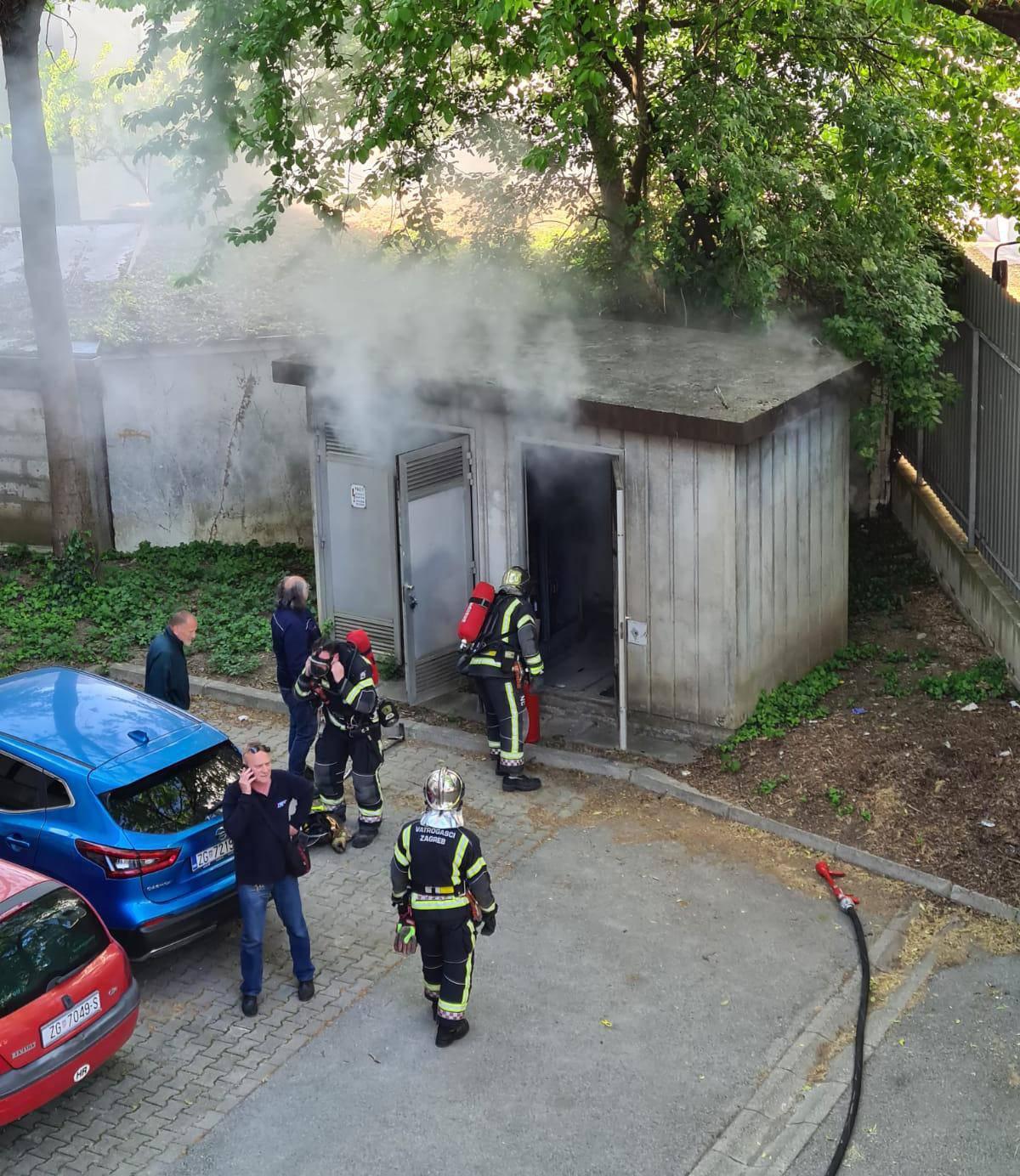 Zbog požara trafostanice u Maksimiru stotine bez struje