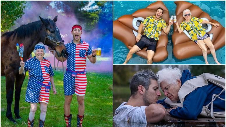 On i baka (95) prava su internet senzacija: Oblače se u kostime i snimaju zabavne videozapise