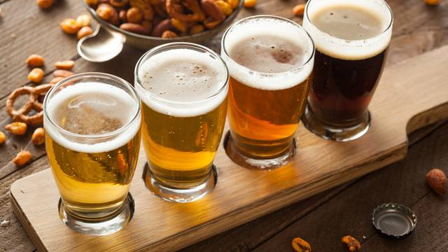 Assorted,Beers,In,A,Flight,Ready,For,Tasting
