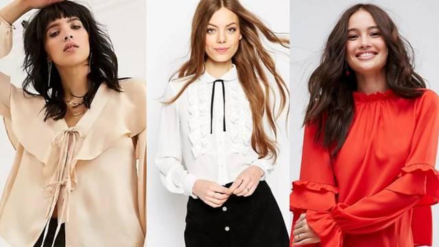 Bluza koja od svakog stylinga čini onaj slavljenički - chic kreacija s raskošnim volanima
