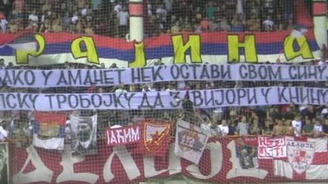 Pusti snovi: Navijači Zvezde o srpskoj trobojnici usred Knina