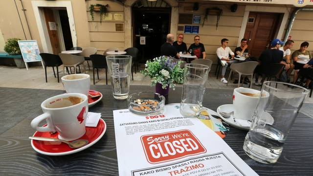 Rijeka: Ugostitelji u znak prosvjeda na sat vremena nisu posluživali goste u lokalu