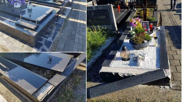Autom se vozio po groblju u Međimurju, uništio 6 grobnica