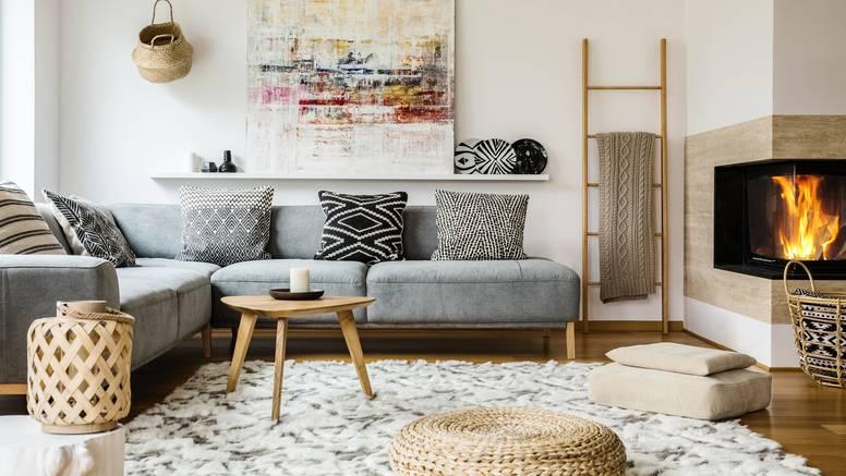 Odabir prave veličine tepiha i izbjegavanje puno namještaja je ključno za izgled dnevne sobe