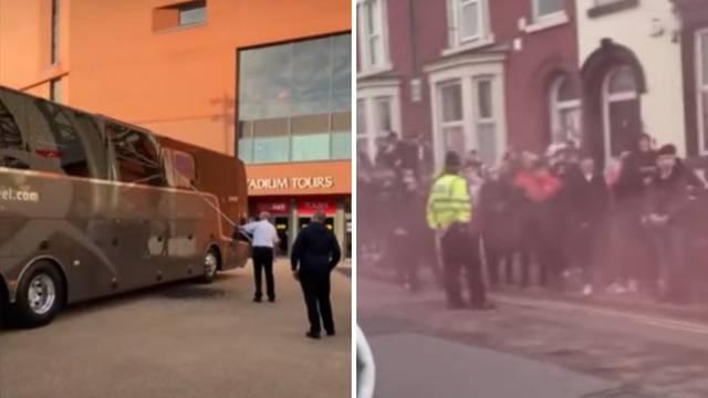 Žestoko u Liverpoolu: Huligani 'Redsa' kamenovali bus Reala!