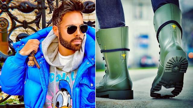 Grubnić pazi na modu i po kiši: Nosi gumene čizme od 7500 kn