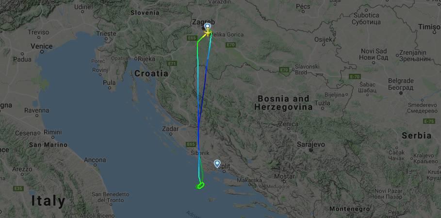 Poletjeli iz Zagreba za Split pa su se vratili zbog nevremena