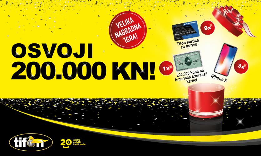 Tifon slavi i u velikoj nagradnoj igri nagrađuje s 200.000 kuna!