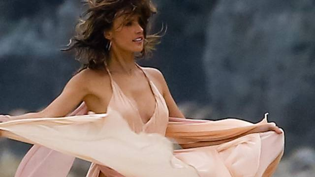 *EXCLUSIVE* Alessandra Ambrosio unleashes her inner Goddess on a shoot