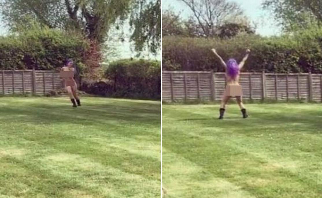 Proslavila razvod: Jodie Marsh potpuno gola trči po dvorištu